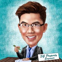 SG Property Engineer Caricature
